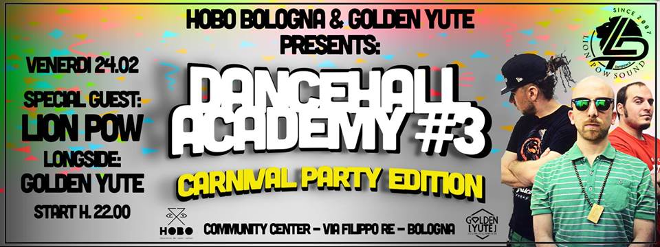 Bologna Carnival at Community Center w/ Golden Yute & Hobo