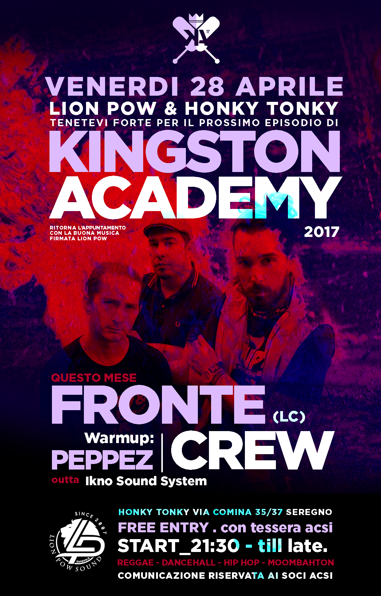 Kingston Academy 28th april Fronte Crew