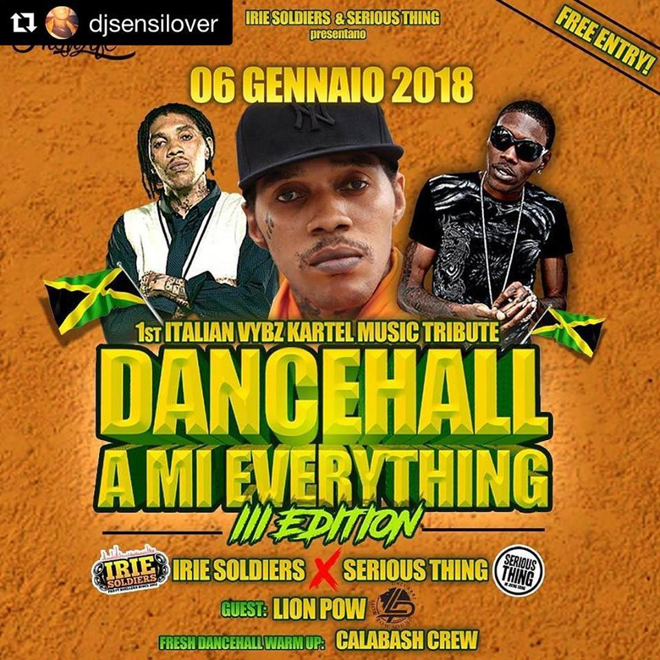 kartel tribute night - dancehall a mi everything